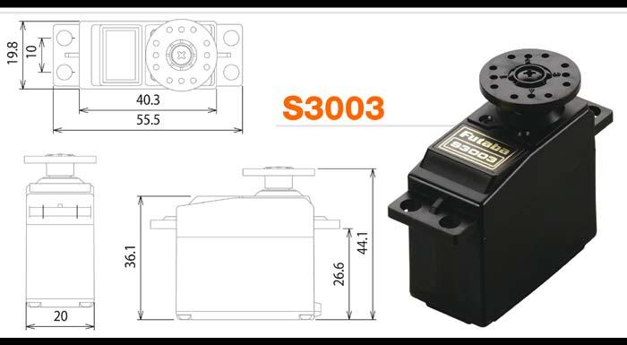 Kết quả hình ảnh cho Servo Futaba S3003