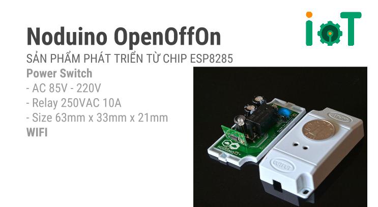 Noduino ESP8285 WiFi OpenOnOff