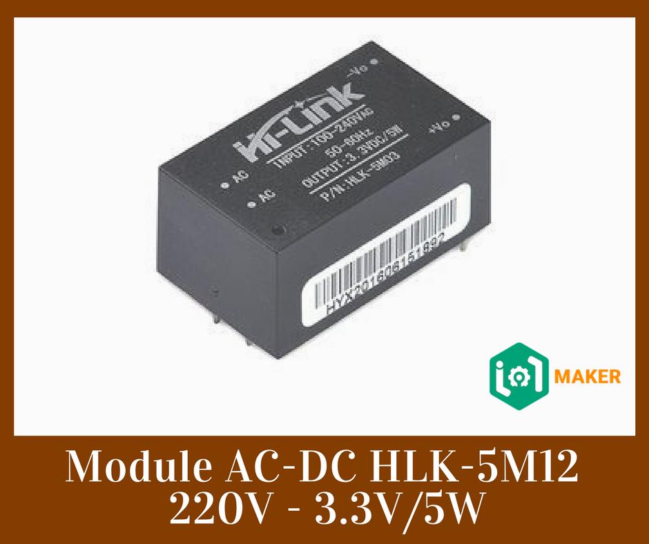 Module AC-DC HLK-5M12 220V - 3 3V/5W