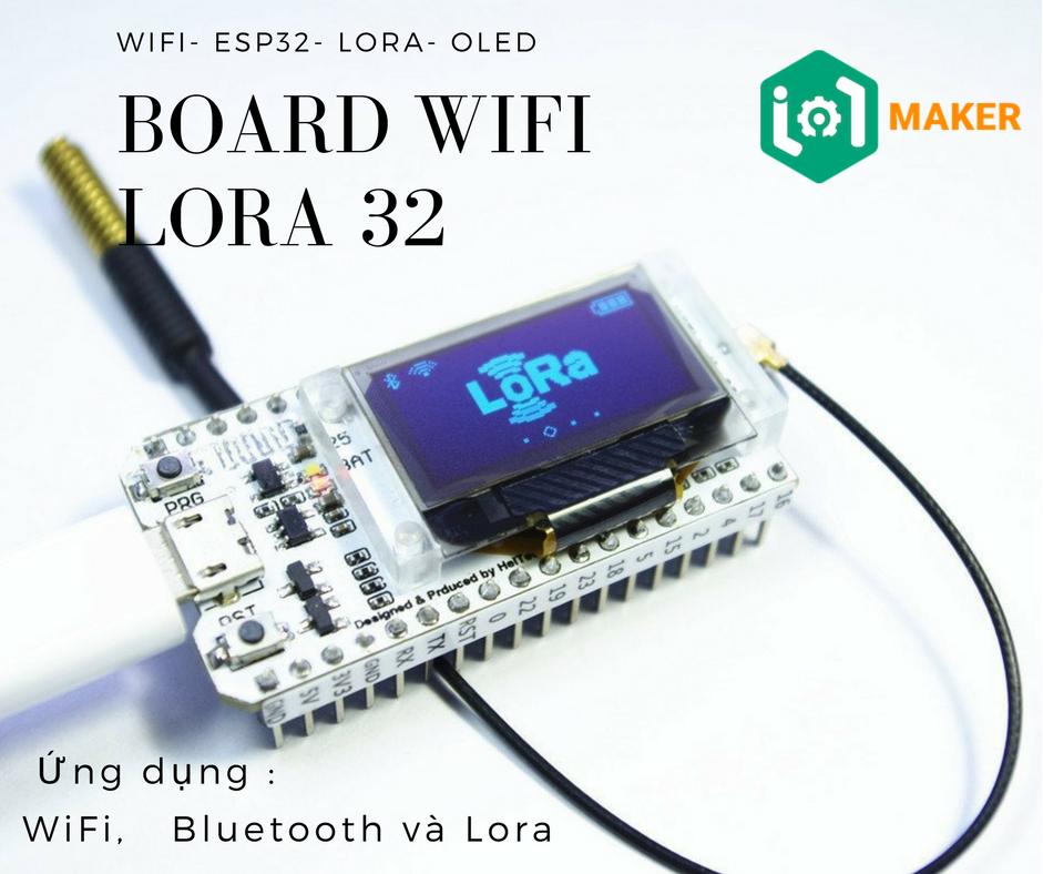 Board ESP32 - WiFi Lora 32
